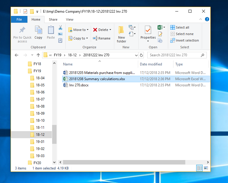 Screenshot of two files shorted in file explorer because they have the date in their filenames