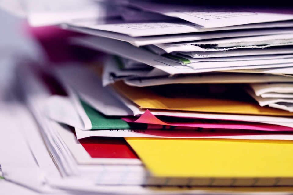 Letting your accounts get out of date is like having a build up pile of documents on your desk