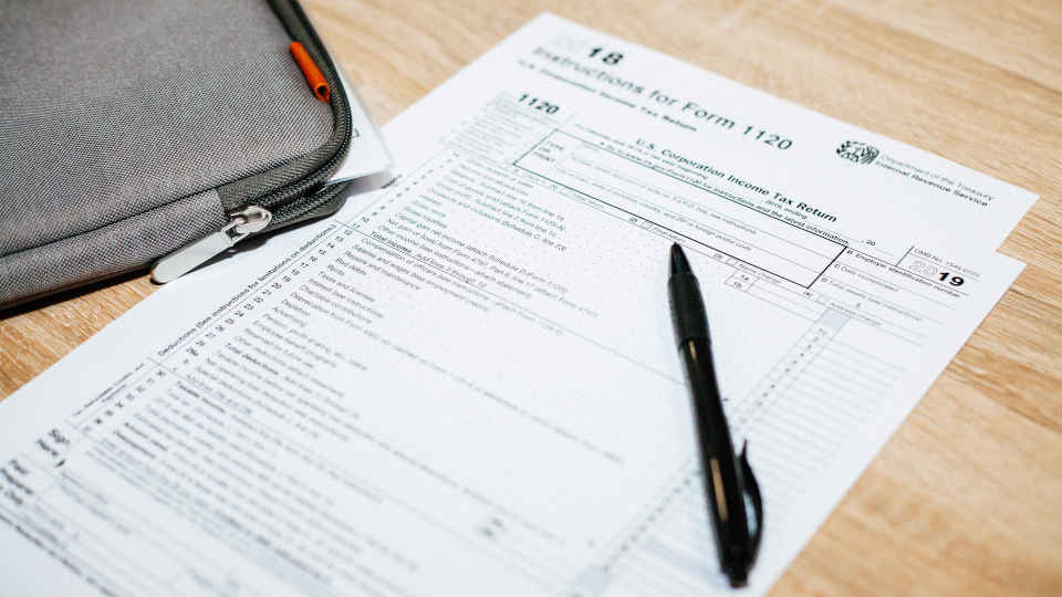 Filling out a business tax return